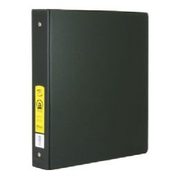 """48 Units of BAZIC 1.5"""" Black 3-Ring Binder w/ 2-Pockets - Clipboards and Binders"""