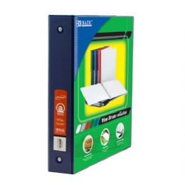 """48 Units of BAZIC 1.5"""" Blue 3-Ring View Binder w/2-Pockets - Clipboards and Binders"""