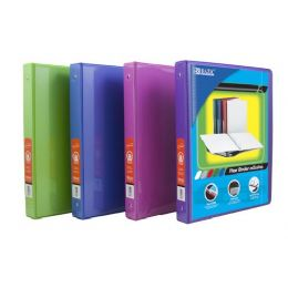 """48 Units of BAZIC 1/2"""" Bright Color 3-Ring View Binder w/ 2-Pockets - Clipboards and Binders"""