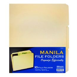 48 Units of Bazic 1/3 Cut Letter Size Manila File Folder (12/pack) - Folders and Report Covers