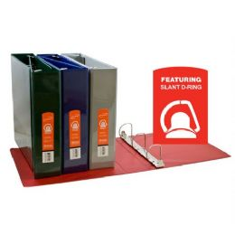 """12 Units of BAZIC 2"""" Asst.Color Slant-D Ring View Binder w/ 2-Pockets - Clipboards and Binders"""