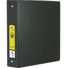 """12 Units of BAZIC 2"""" Black 3-Ring Binder w/ 2-Pockets - Clipboards and Binders"""