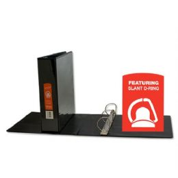 """24 Units of BAZIC 2"""" Black Slant-D Ring View Binder w/ 2 Pockets - Clipboards and Binders"""