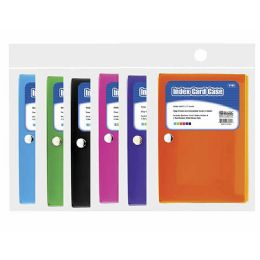 "72 Units of BAZIC 3"" X 5"" Index Card Case w/ 5-Tab Divider - Storage Holders and Organizers"