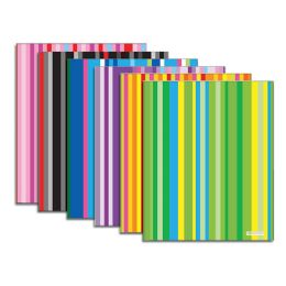 48 Units of Bazic Stripes 2-Pocket Poly Portfolio - Folders and Report Covers