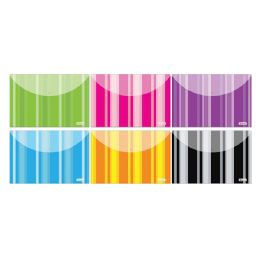 144 Units of Bazic Stripes Poly Letter Size Document Holder (2/pack) - Folders and Report Covers
