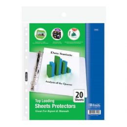 144 Units of Bazic Top Loading Sheet Protectors (20/pack) - Folders and Report Covers