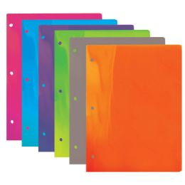 48 Units of Bazic Translucent Multi Color 2-Pockets Poly Portfolio - Folders and Report Covers