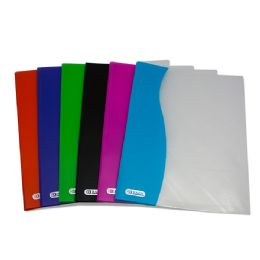 48 Units of Bazic Two Tone 2-Pockets Poly Portfolio - Folders and Report Covers