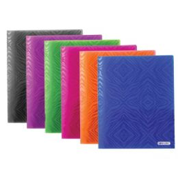 48 Units of Bazic Zebra Pattern 2-Pocket Poly Portfolio - Folders and Report Covers
