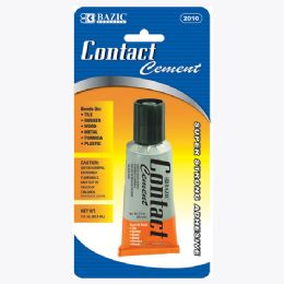 144 Units of BAZIC 1 Oz. (30mL) Contact Cement Adhesive - Glue Office and School
