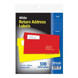 "144 Units of Bazic 3/4"" X 2 1/4"" White Return Address Labels (300/pack) - Labels ,Cards and Index Cards"
