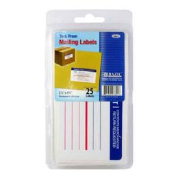 144 Units of Bazic Mailing Label (25/pack) - Labels ,Cards and Index Cards