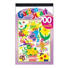 72 Units of Garden Series Assorted Sticker (700/Pack) - Stickers