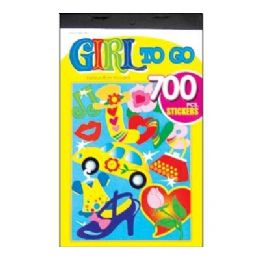 60 Units of Girl Series Assorted Sticker (700/Pack) - Stickers