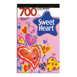 60 Units of Heart Series Assorted Sticker (700/Pack) - Stickers