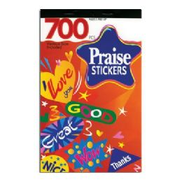72 Units of Praise Series Assorted Sticker (700/pack) - Stickers