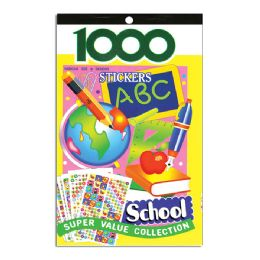 48 Units of School Series Assorted Sticker (1000/pack) - Stickers