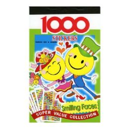 12 Units of Smile Face Series Assorted Sticker (1000/Pack) - Stickers
