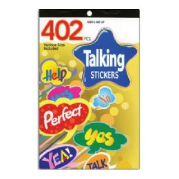 60 Units of Talking Series Assorted Sticker (402/pack) - Stickers