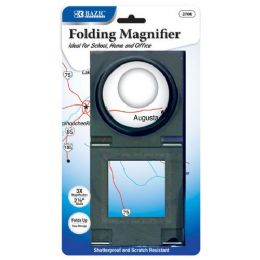 "144 Units of BAZIC 2.5"" Folding 3x Magnifier - Magnifying  Glasses"