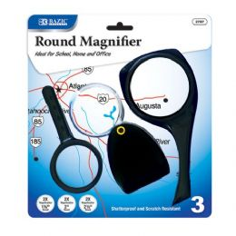 144 Units of BAZIC 2x Magnifier Sets (3/Pack) - Magnifying  Glasses