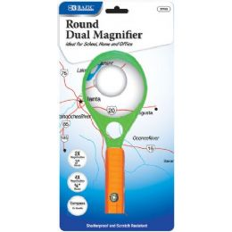 "72 Units of BAZIC 3"" & 0.75"" Dual 2x & 4x Handheld Magnifier w/ Compass - Magnifying  Glasses"