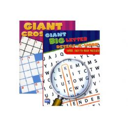 48 Units of Assorted Jumbo Puzzle Book - Crosswords, Dictionaries, Puzzle books