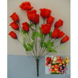 100 Units of 14 Head Silk Flower-Rosebuds - Artificial Flowers