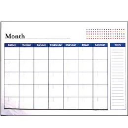 "48 Units of BAZIC 17"" X 22"" Undated 12-Months Desk Pad Calendar - Calendars & Planners"