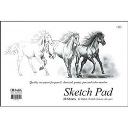 "48 Units of Bazic 20 Ct. 18"" X 12"" Sketch Pad - Paper"