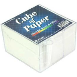 "48 Units of Bazic 3.5"" X 3.5"" Paper Cube W/ Pen Holder - Paper"