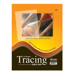 "96 Units of Bazic 30 Ct. 9"" X 12"" Tracing Paper Pad - Paper"