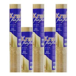 "36 Units of BAZIC 30"" X 14 ft. All-Purpose Natural Kraft Wrap Paper Roll - PAPER"