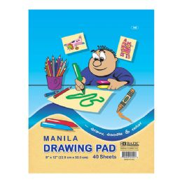 "96 Units of Bazic 40 Ct. 9"" X 12"" Manila Drawing Pad - Paper"
