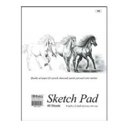 "48 Units of Bazic 40 Ct. 9"" X 12"" Sketch Pad - Paper"