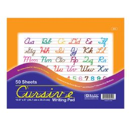 "48 Units of Bazic 50 Ct. 10.5"" X 8"" Cursive Writing Pad - Paper"