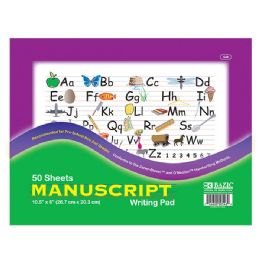 "96 Units of Bazic 50 Ct. 10.5"" X 8"" Manuscript Writing Pad - Paper"