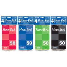 "72 Units of Bazic 50 Ct. 3"" X 5"" Top Bound Spiral Memo Books (4/pack) - Dry Erase"