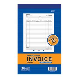 "72 Units of BAZIC 50 Sets 5 9/16"" X 8 7/16"" 2-Part Invoice w/ Carbon - Sales Order Book"