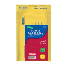 "72 Units of BAZIC 6"" X 9.25"" (#0) Self Sealing Bubble Mailers (4/Pack) - Boxes & Packing Supplies"