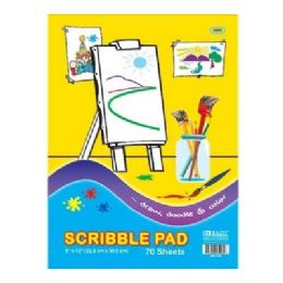 "96 Units of Bazic 70 Ct. 9"" X 12"" Scribble Pad - Paper"