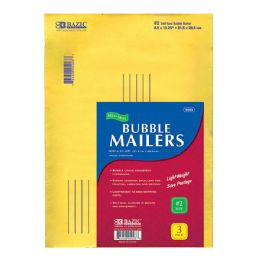 "48 Units of BAZIC 8.5"" X 11.25"" (#2) Self Sealing Bubble Mailers (3/Pack) - Boxes & Packing Supplies"