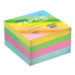 96 Units of Bazic 85mm X 85mm 500 Ct. Color Paper Cube - Paper