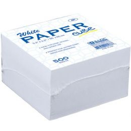 48 Units of Bazic 85mm X 85mm 500 Ct. White Paper Cube - Paper