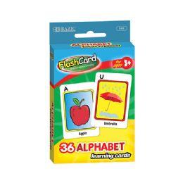72 Units of BAZIC Alphabet Preschool Flash Cards (36/Pack) - Teacher & Student