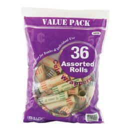 50 Units of Bazic Assorted Size Coin Wrappers (36/pack) - Coin Holders & Banks