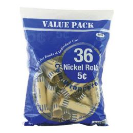 50 Units of Bazic Nickel Coin Wrappers (36/pack) - Coin Holders & Banks