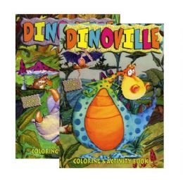 48 Units of DINOVILLE Coloring & Activity Book - Coloring & Activity Books