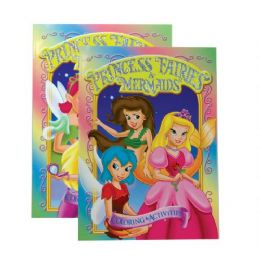 48 Units of GIRL'S TRIO (PRINCESS, FAIRIES, MERMAIDS) FOIL & EMBOSSED Coloring & Activity Book - Coloring & Activity Books
